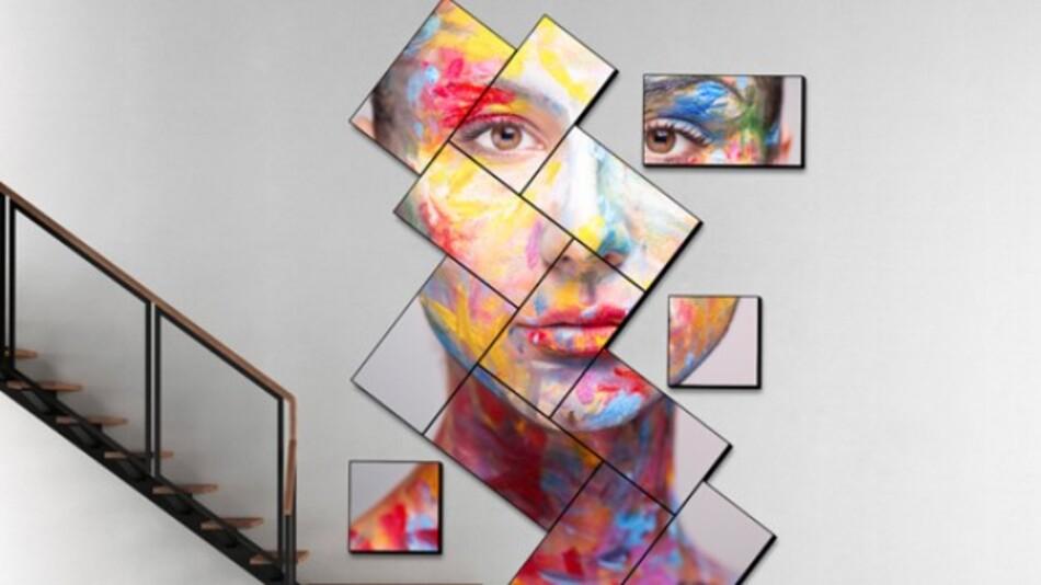 Mit Userfuls Network-Video-Wall (Vertrieb: Display Solution) lassen sich auch kreativ arrangierte »Mosaik-Video-Wall-Formate in 4K-Auflösung in beliebigen Winkeln realisieren.