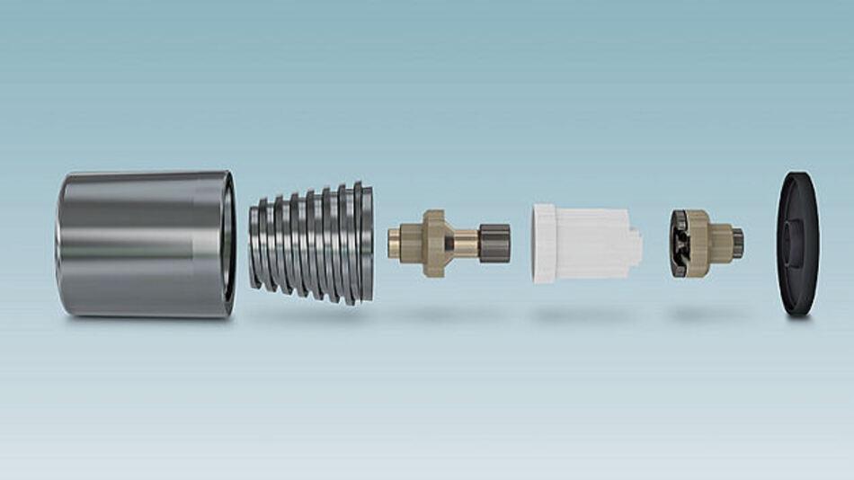 Moderne Funkenstrecken bestehen aus vielen Einzelteilen, die verschiedene Funktionen während des Ableitens von Blitzströmen und dem anschließenden Verlöschen erfüllen