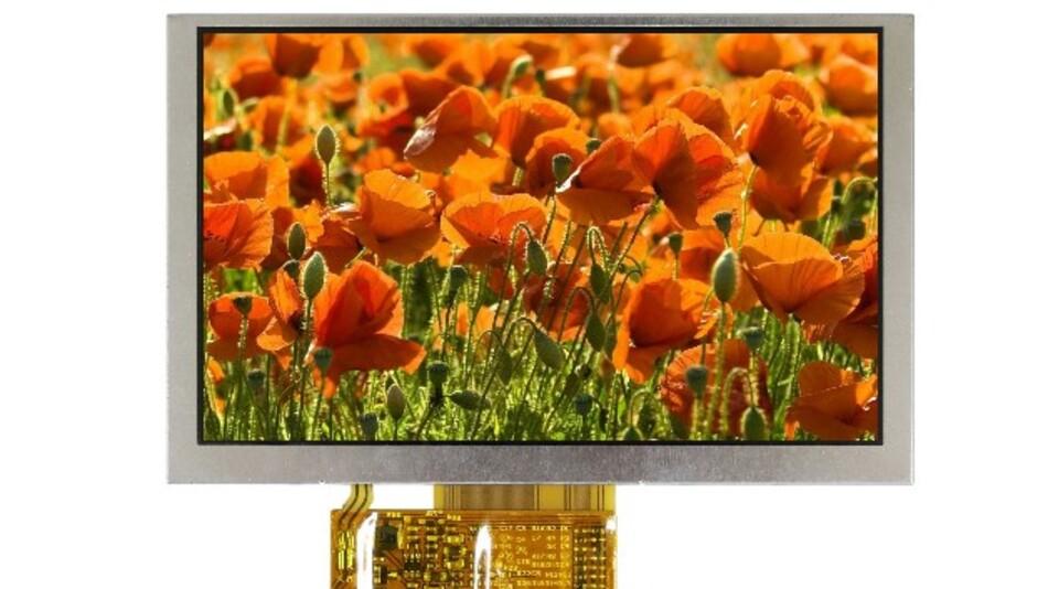 Winstars 5-Zoll-Touch-TFT-Display WF50B (Vertrieb: SE Spezial-Electronic) hat bei einer Auflösung von 800 x 480 Pixel ein Kontrastverhältnis von 700:1 und eine Leuchtdichte von 450 cd/m2.