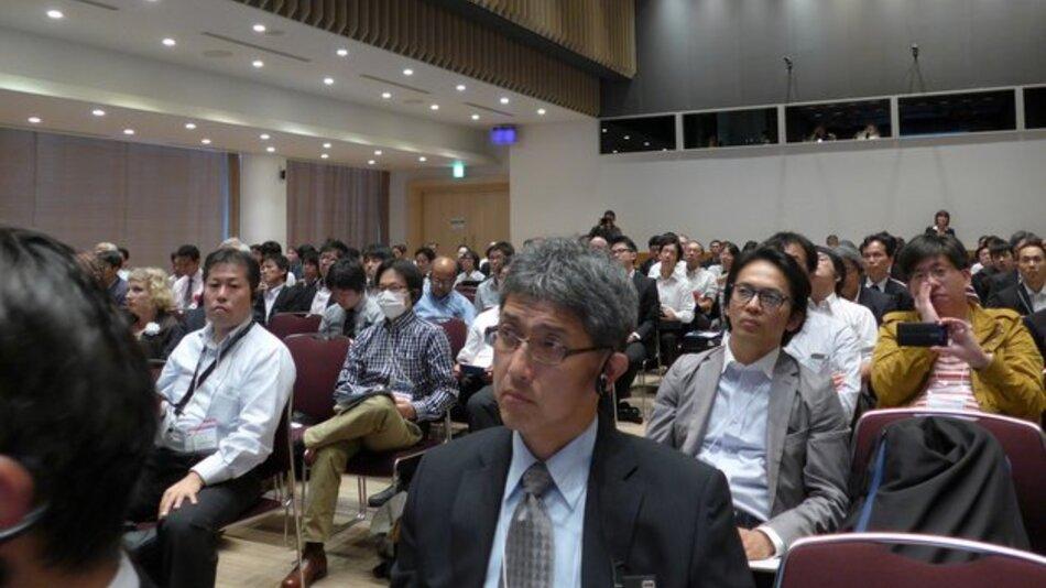 Bild 1. Teilnehmer aus Japan stellten die überwiegende Mehrheit der Besucher.
