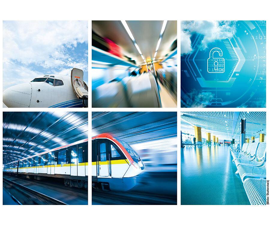 Verschiedene Normen und Standards bei der Sicherheit von Maschien, Automobilen, Zügen und Flugzeugen.