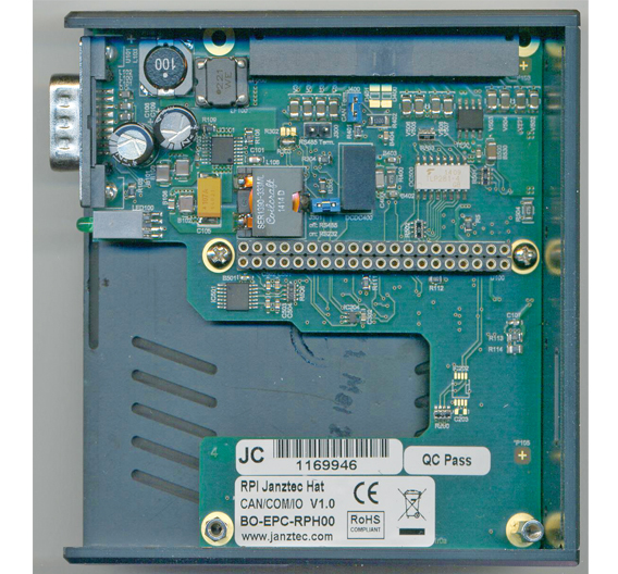 Bild 1: Der emPC von Innen mit entferntem Raspberry Pi