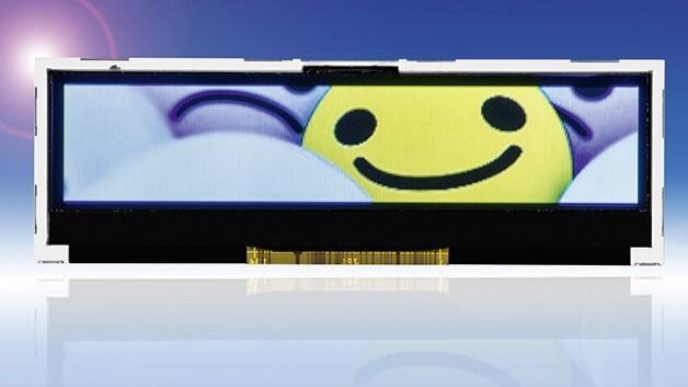 Passgenau für 1HE-Anwendungen ist Densitrons 2,8-Zoll-TFT-Display mit einer Auflösung von 320 x 64 Pixel und einem Kontrast von 800:1.