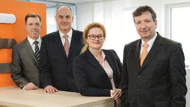 Der Vorstand der Weidmüller Gruppe (v.l.n.r.): Harald Vogelsang (Finanzvorstand), Volpert Briel (Vertriebsvorstand), Elke Eckstein (Vorstand Operations) und Dr. Peter Köhler (Vorstandsvorsitzender)