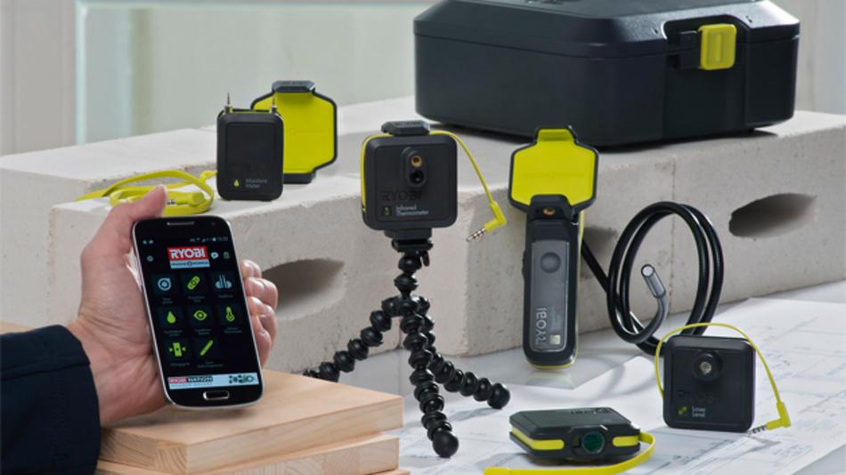 Die Phone Works Messwerkzeuge von Ryobi ermöglichen schnelle und genaue Messungen mit dem Smartphone.