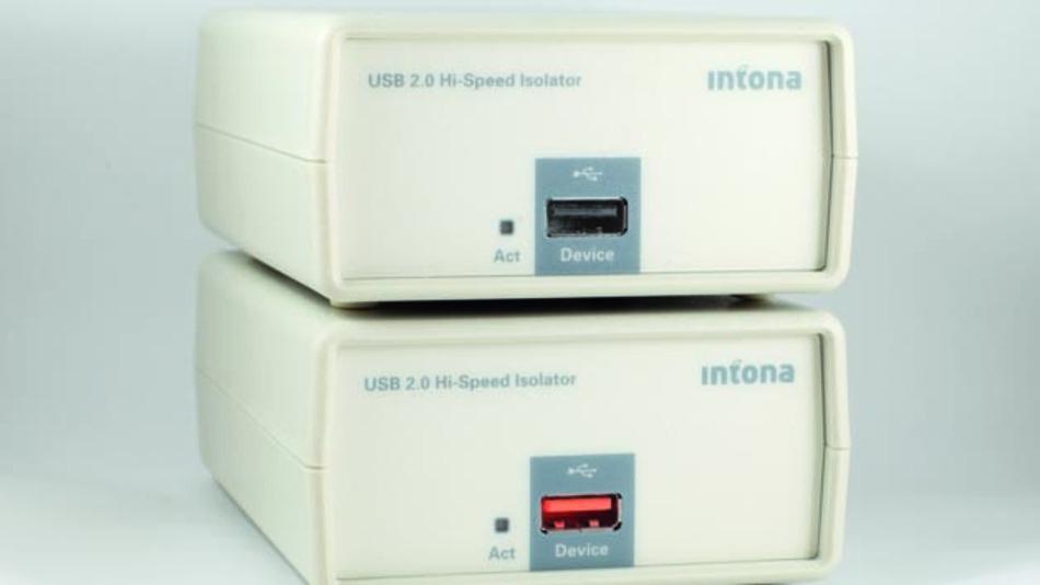 Der High-Speed-Isolator von Intona ist in zwei Varianten erhältlich: Modell 7054 und das für die Industrie geeignete Modell 7054-X.