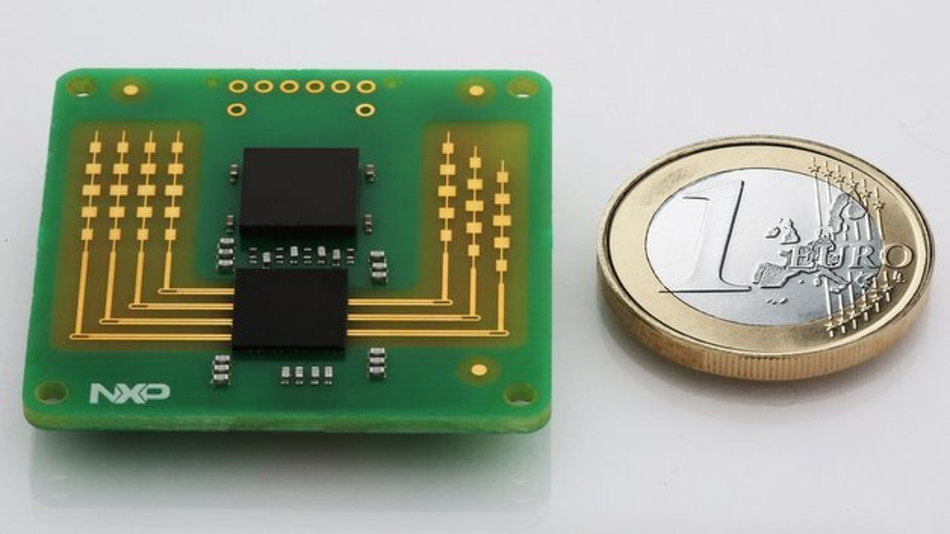 Radarsensor-Konzeptdesign auf Basis des neuen NXP-Chips.