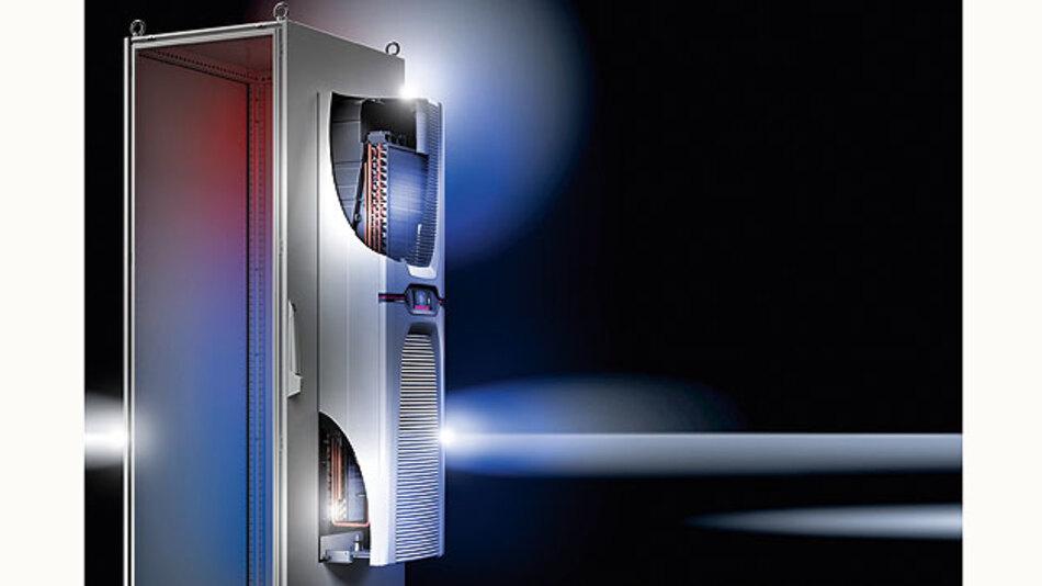 Bild 1. Integrierte Heat Pipe für passive Kühlung führt Wärme aus dem Schaltschrank ab, sobald die Umgebungstemperatur unterhalb des Sollwerts liegt.