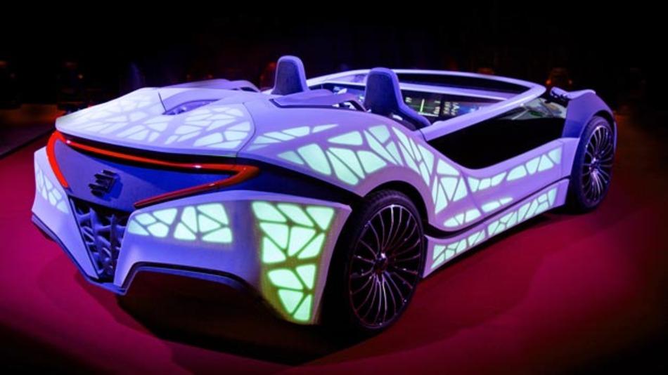 Bosch hat zur CES ein Demonstrationsfahrzeug mitgebracht, dass eine neue Art der Kommunikation zwischen Mensch und Maschine verspricht.