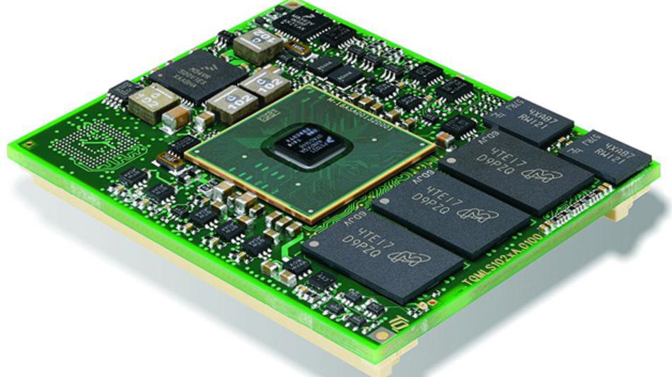 Bild 1. Das Modul TQML S102xA vereint die ARM- Architektur in Form des Freescale-Prozessors LS102xA mit der QorIQ-Kommunikations-Technologie. Der integrierte Grafikkontroller unterstützt Anwendungen mit Display und Touchscreen.
