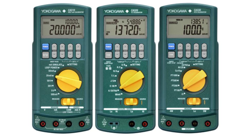Die Modelle der CA300 Serie von Yokogawa enthalten spezielle Funktionen für die Schleifendiagnose und die Simulation von Thermoelementen und RTDs.