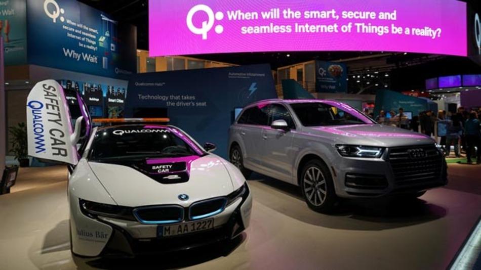 Auf der CES demonstriert Qualcomm im Audi Q7 den Snapdragon 602A.