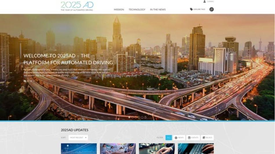 Neue Plattform rund um das automatisierte Fahren: 2025AD.com von Continental.