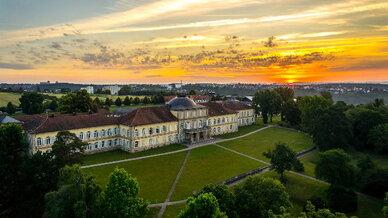 Wetterprognosen könnten bald sehr viel genauer und zuverlässiger werden. Hier zu sehen: Luftbild vom Hohenheimer Schloss.