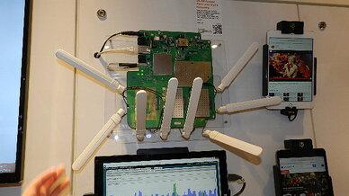 Ein WLAN-Zugangspunkt  mit MU-MIMO-Technik.