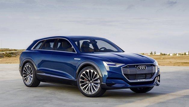 Die Studie Audi e-tron quattro concept gibt einen Ausblick auf das geplante Serienmodell.