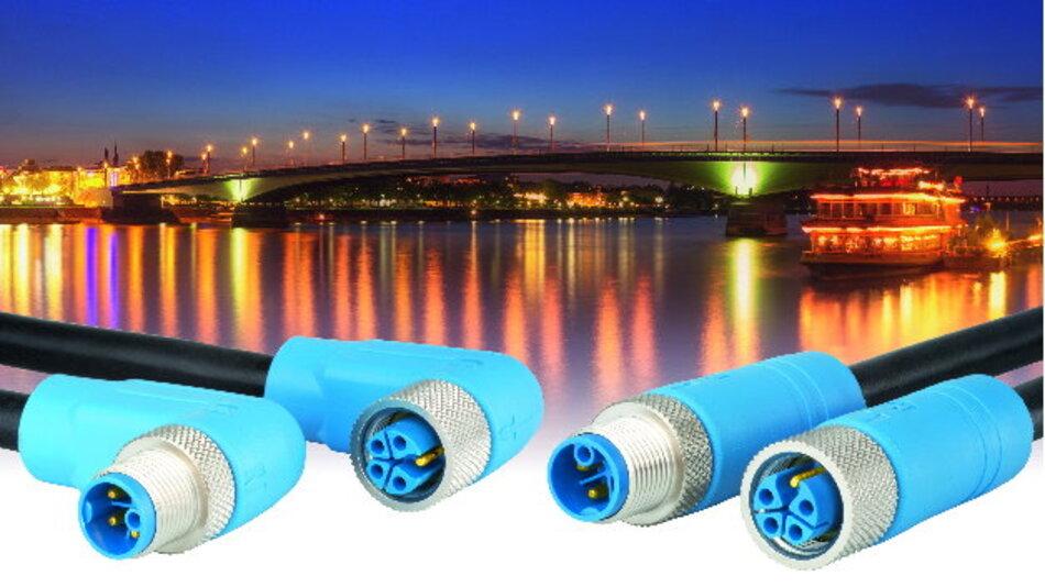 Viel Leistung auf wenig Raum: Der »M12 Power« überträgt Nennspannung bis 630 V und Nennstrom bis 16 A.