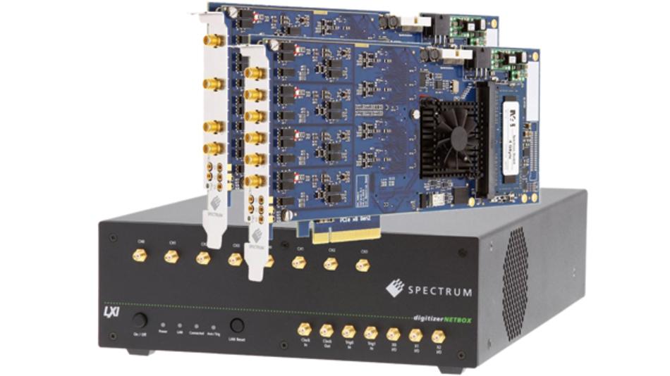 Bild 2: Spectrums PCIe- und LXI-Digitizer umfassen alle nötigen Hardware- und Software-Eigenschaften, um als Oszilloskop genutzt zu werden.