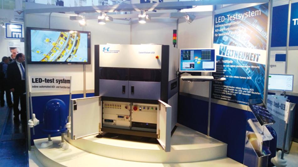 Das »LaserVision LED« wurde auf der productronica 2015 erstmals in der Öffentlichkeit präsentiert.