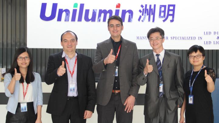 Kooperation eyevis und Unilumin