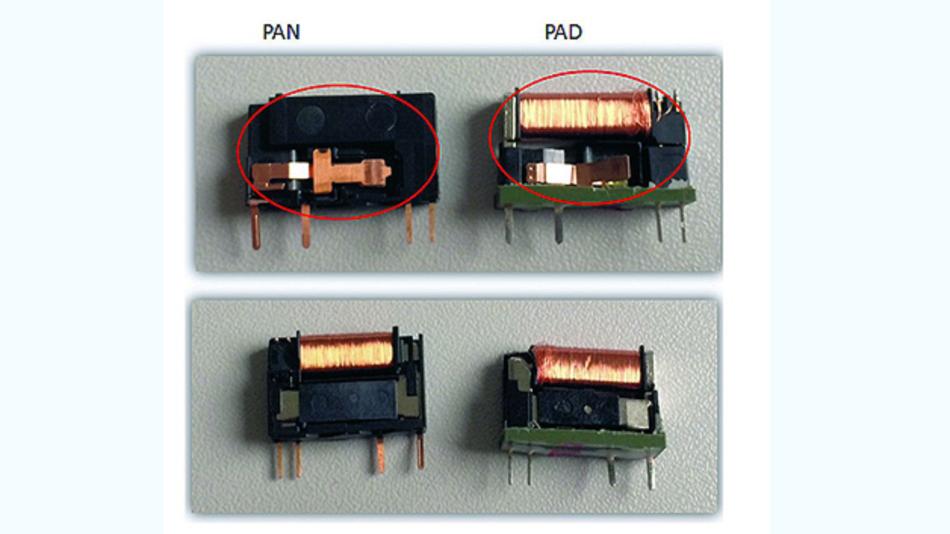 Bild 1. Eine optische Gegenüberstellung des geöffneten neuen PAN- und des geöffneten alten PAD-Relais