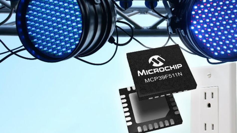 Der MCP39F511N von Microchip überwacht zwei Stromlasten mit 0,5 Prozent Fehler über einen breiten Dynamikbereich von 4000:1.