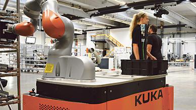 6-Arm-Roboter vom Typ Quantac von Kuka