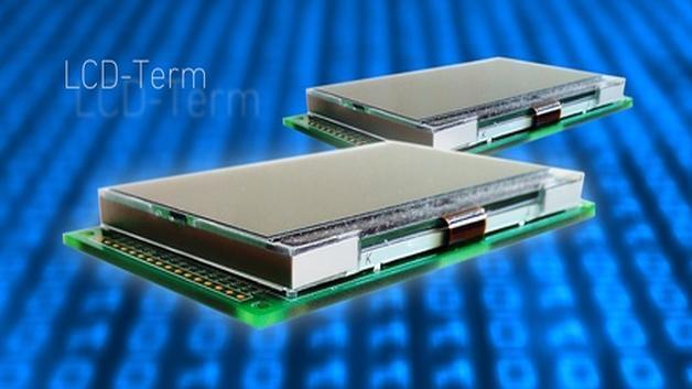 taskits Zwei-Farben-Display LCD-Term mit einer Auflösung von 128x64 Pixel und Diagonalen von 1,2 bis 3,5 Zoll lässt sich direkt an einer USB-Schnitstelle betreiben.