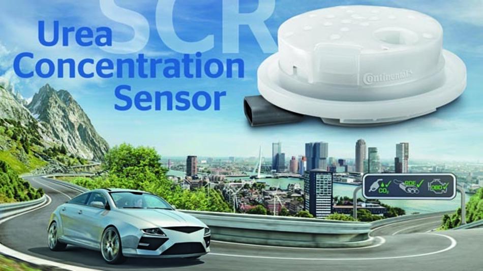Continental startet Produktion von Urea-Sensoren für eine effiziente Abgasnachbehandlung bei Dieselmotoren.