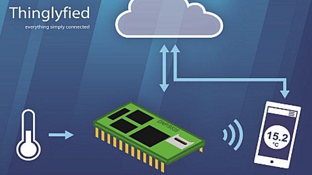 Mit »Thinglyfied« lassen sich Sensoren an verschiedene Cloud-Plattformen anbinden. Darüber hinaus lassen sich die Daten per Smartphone-App visualisieren, auswerten und überwachen.