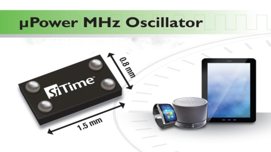 Den weiten Frequenzbereich von 1 bis 26 MHz deckt SiTimes miniaturisierter und enorm stromsparender MEMS-Oszillator SiT8021 ab.