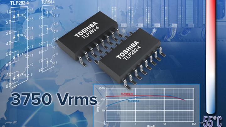 Zwei neue Transistor-Optokoppler von Toshiba für den erweiterten Temperaturbereich.