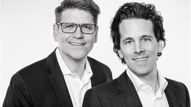 Die neuen Vertriebsleiter der Deutschen Lichtmiete: Markus Frank (li.) und Christian Haferkamp (re.)