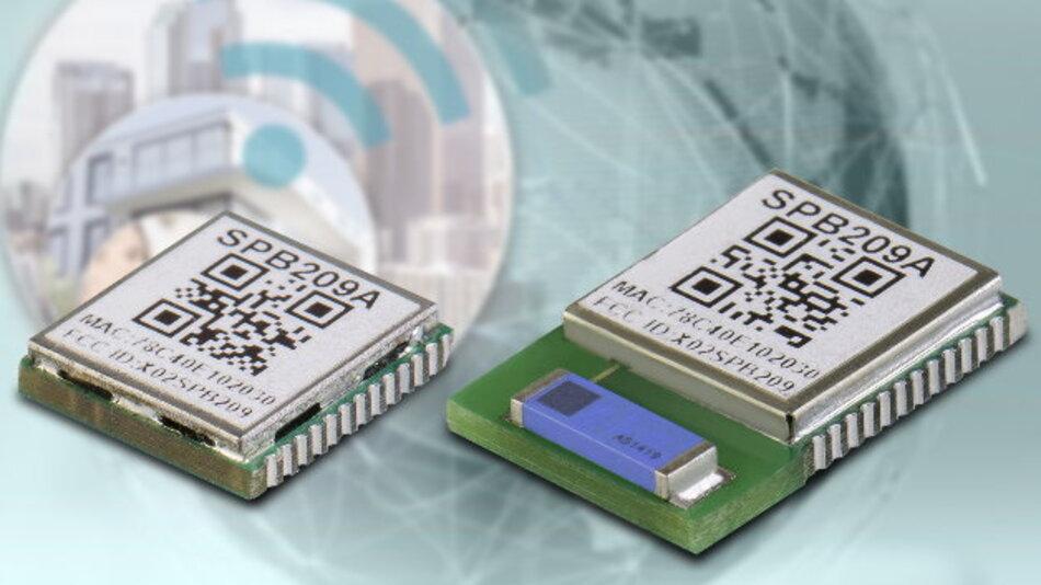 Das Modul »SPB209 accelerate« gibt es mit und ohne integrierter Antenne.