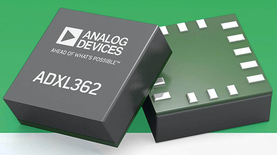 Bild 2. Der MEMS-Beschleunigungssensor ADXL362 hat eine sehr geringe Stromaufnahme.