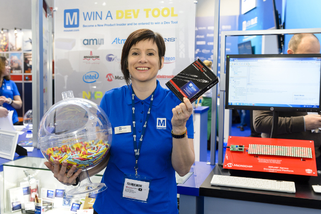 Mouser verlost Dev Tools am Messestand