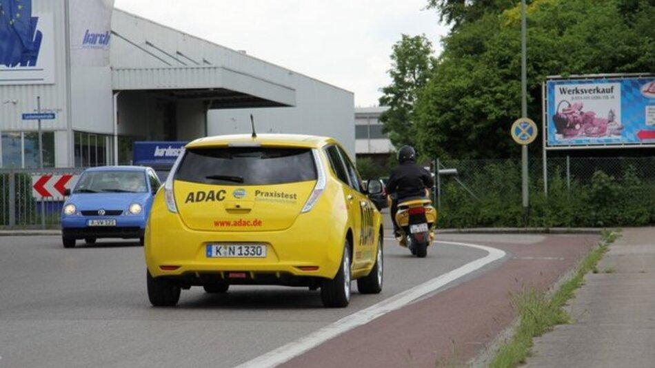 E-Auto Nissan Leaf im ADAC-Praxistest.