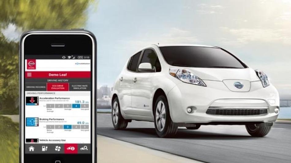 Über die NissanConnect-App soll das Elektrofahrzeug angreifbar sein.
