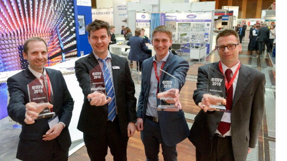 Freuen sich über die Auszeichnung: v.l.n.r.: Jochen Riedelsheimer, Stephan Braun, Sebastian Südekum, Matthias Trebeck