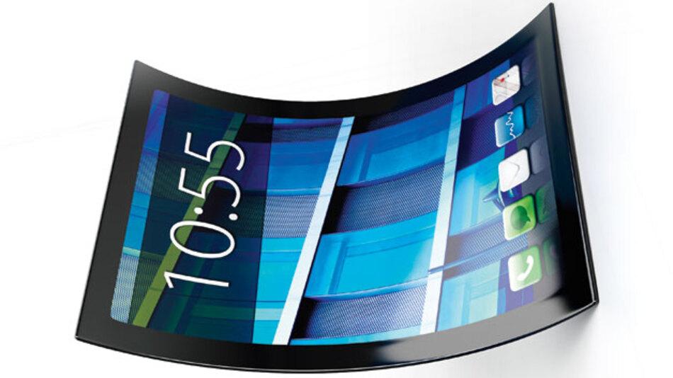 Flexible Displays eröffnen interessante Möglichkeiten, sind in der Herstellung allerdings teuer - zumindest dann, wenn weiterhin die klassischen LCD-Fertigungsprozesse übernommen werden.