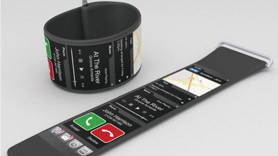 Bild 1. Produkte mit flexiblen Displays, wie das hier gezeigte Armband, machen deutlich, welche neuen Gestaltungsmöglichkeiten sich für Smartwatches und andere Wearables ergeben.