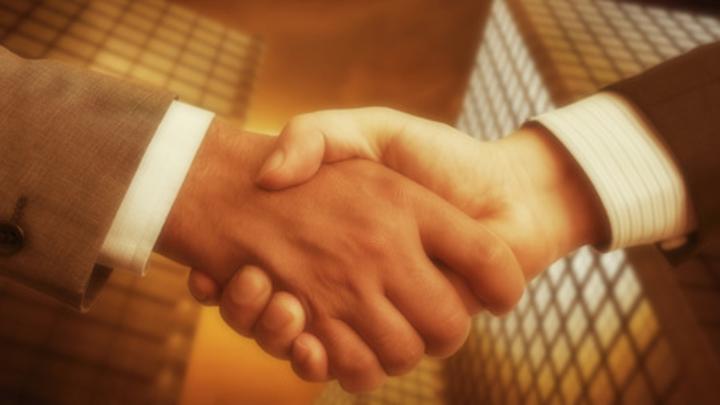 Schmuckbild Einigung, Übernahme, Verhandlung