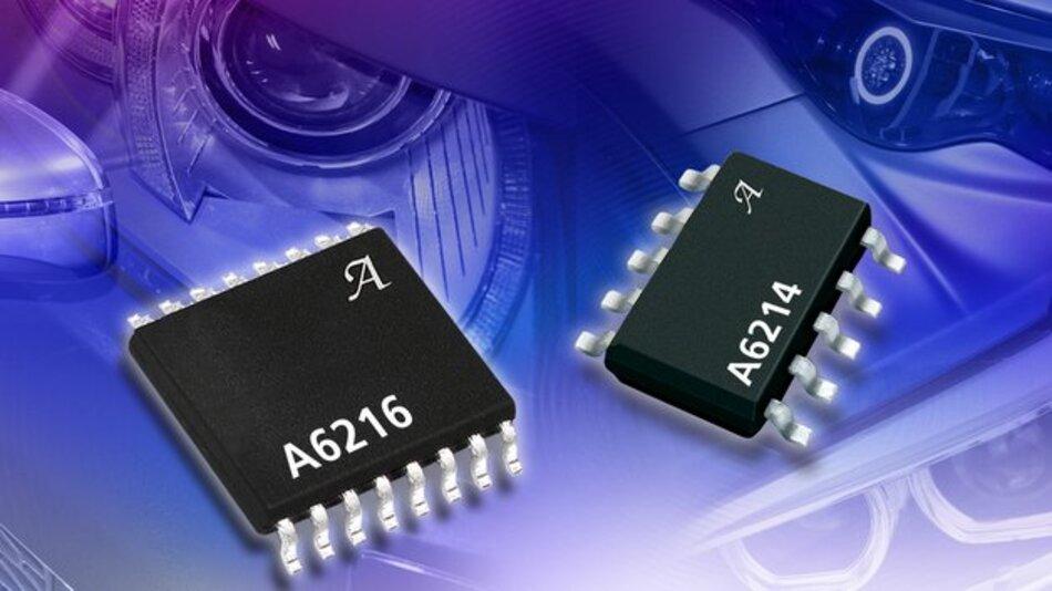 Erübrigen dezentrale Mikrocontroller: die Schaltregler-ICs A6214 und A6216 von Allegro.