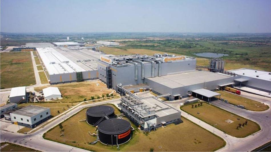 Die Continental Produktsstätte für Pkws und Kleintransporter im chinesischen Hefei.