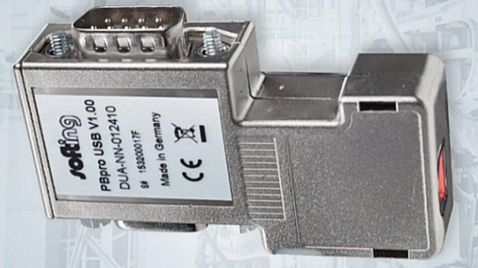 »PBpro USB« von Softing ist das kleinste Profibus-Master-Interface für mobile Anwendungen.