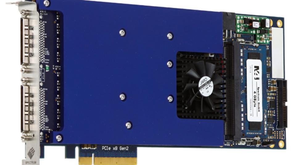 Die neuen Datenerfassungskarten von Spectrum ermöglichen Aufzeichnungsraten bis zu 720 MBit/s.