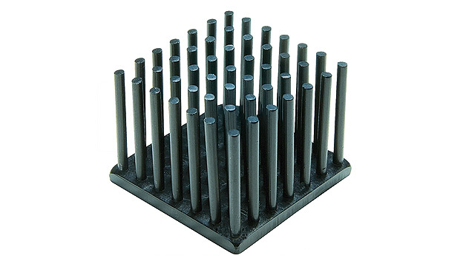 Bild 4. Stiftkühlkörper erfüllen die Anforderungen an geringes Gewicht, hohen Wirkungsgrad und einfache Montage.