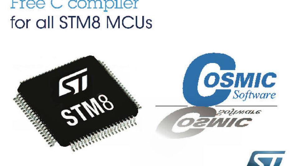 Der neue C-Compiler Cosmic CXSTM8 komplettiert die kostenlose und unbeschränkte Entwicklungs-Toolchain