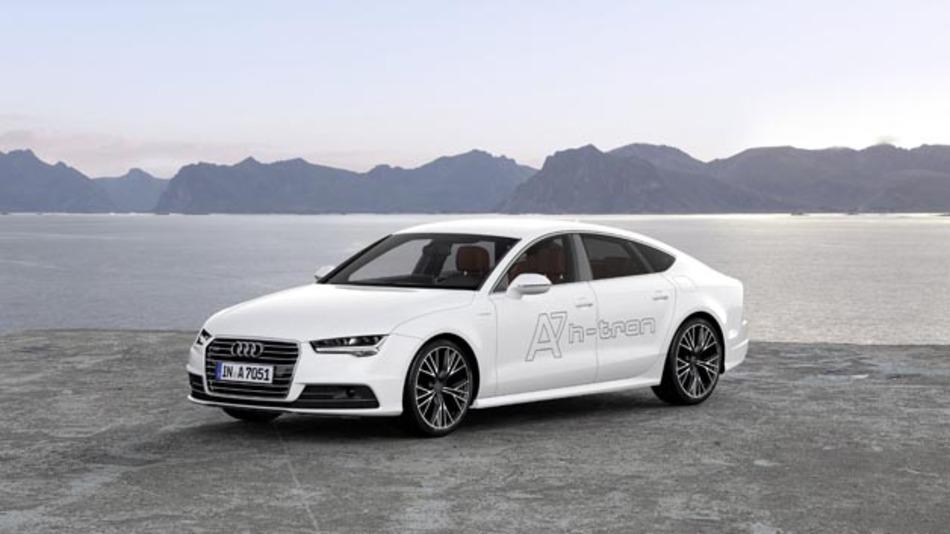 Brennstoffzellenfahrzeug aus dem Hause Audi: Der A7 Sportback h-tron quattro.