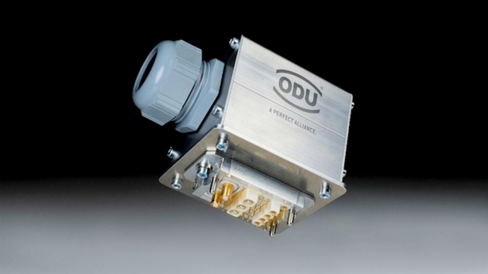 ODU-MAC Docking Gehäuse für modulares Steckverbindersystem